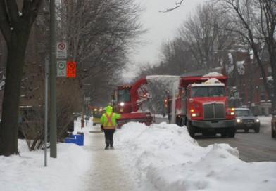 17-18 février : opérations de déneigement et de chargement de neige