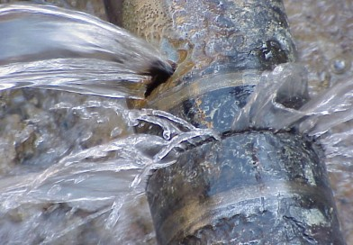 Water leak on Ste Catherine between Greene and Wood
