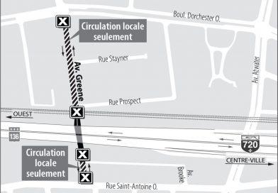 Projet Turcot : Fermeture de l'avenue Greene – du 27 juin jusqu'au début septembre 2017