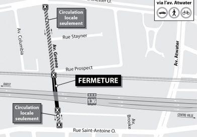 Projet Turcot : fermeture sur l'avenue Greene du 18 au 28 janvier