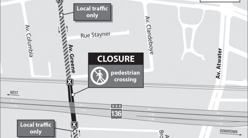 Turcot Project: pedestrian crossing at Greene to remain closed until the end of July 2019