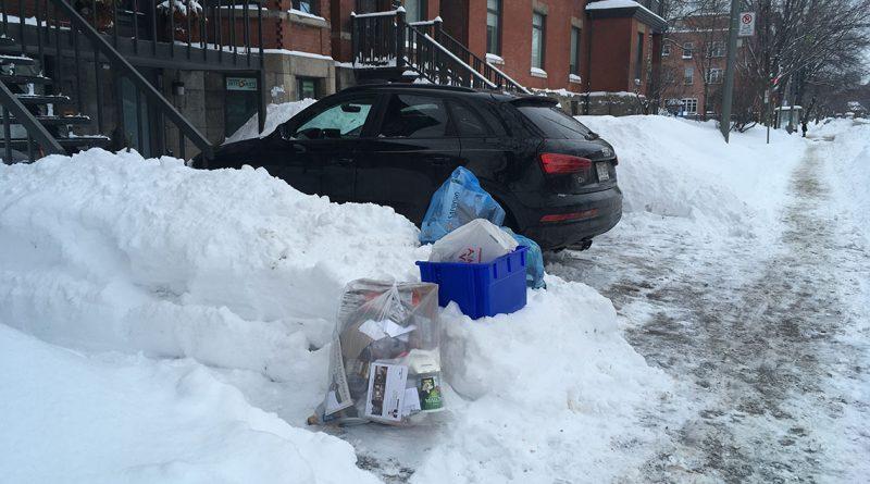 Accès aux matières résiduelles pendant l'hiver