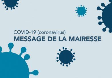 COVID-19 : Message de la mairesse et du Conseil – le 30 mars 2020