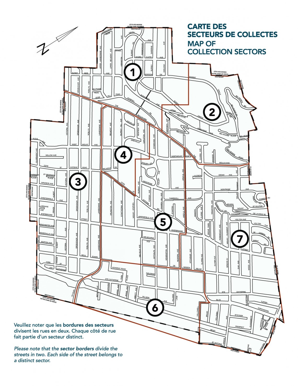 Map of Collection Sectors