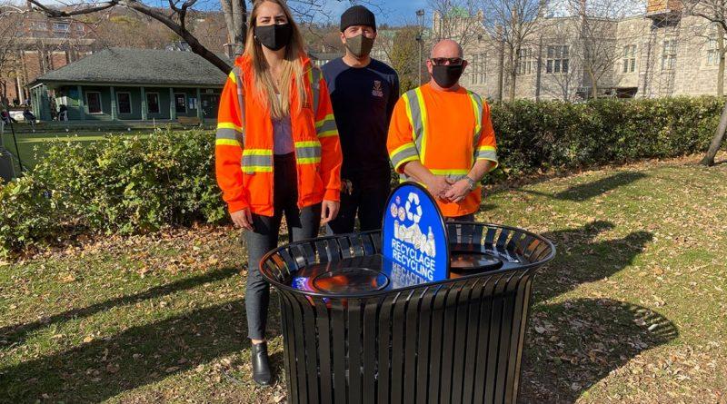 Remplacement des poubelles de rue et de parcs