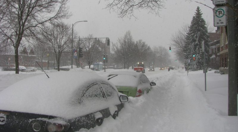 Snowstorm January 17-18: move your vehicle to facilitate snow removal operations