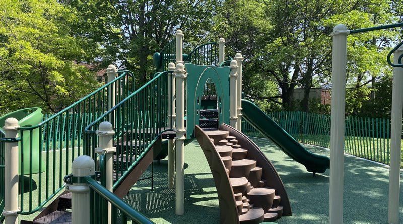 Playground installation in Prince Albert Park